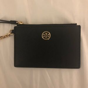 Tory Burch black key chain wallet
